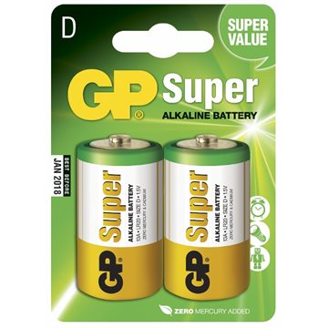 GP Super Alkaline D 2-pk