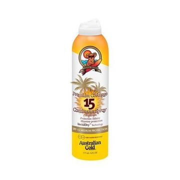 Solcreme spray Premium Coverage Australian Gold SPF 15 (177 ml)