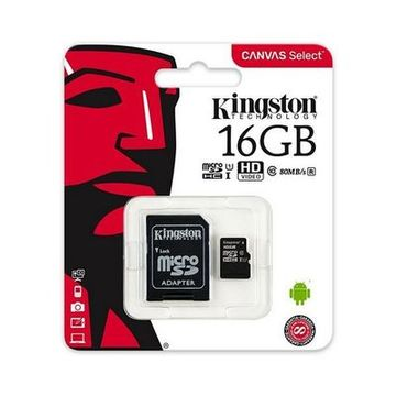 Mikro SD-kort Kingston SDCS/16GB 16 GB