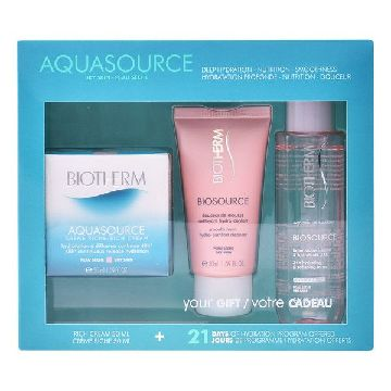 Women's Cosmetics Set Aquasource Creme Ps Biotherm (3 pcs)