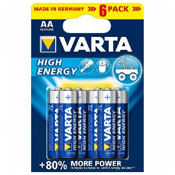 Alkaline Batteri Varta 4906 AA 1,5 V AA High Energy (6 pcs) Blå