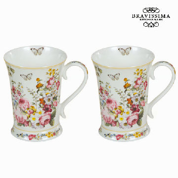 Set of 2 cups bloom white - Kitchen's Deco Collection by Bravissima Kitchen