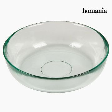 Recycled Glass Bowl Smooth Transparent - Pure Crystal Kitchen Collection by Homania