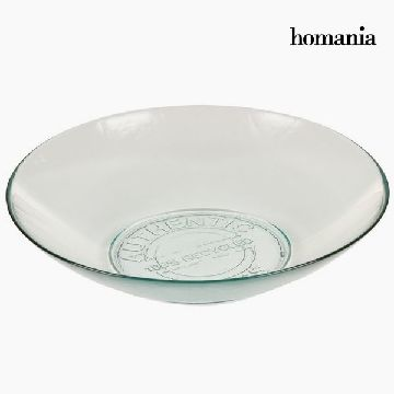 Recycled Glass Bowl Large Transparent - Pure Crystal Kitchen Collection by Homania