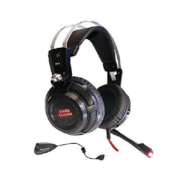 Gaming Headset Hovedtelefoner Gaming Headset with Microphone Tacens MH316 7.1 Surround USB + 40 mm Neodi Ultra Bass 32Ω 15 mW Black
