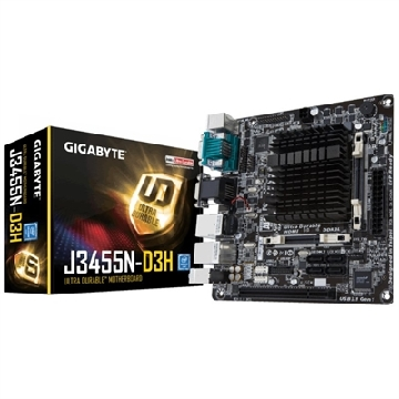 Motherboard with Integrated CPU Gigabyte GA-J3455N-D3H Mini-ITX Intel® Quad-Core Celeron® J345