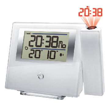Radio Alarm Clock with LCD Projector Oregon Scientific RM-368-P LCD White