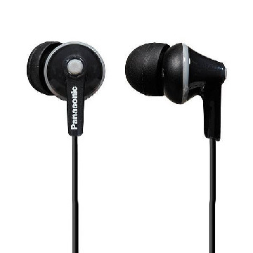 Hovedtelefoner Panasonic RP-HJE125E in-ear Sort