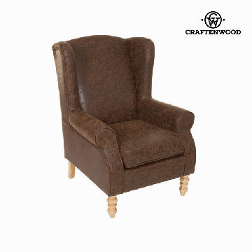 Brun wingback lænestol by Craften Wood