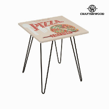 Firkantet bord med pizza design beige by Craften Wood