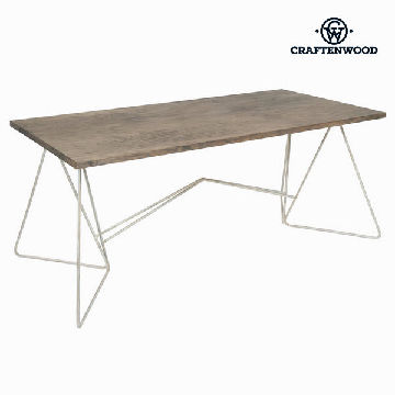 Dining Table Wood / Ironwork White - Winter Collection by Craftenwood