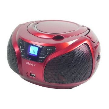 CD-radio Denver Electronics TCU-206RD Rød