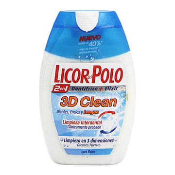 Tandpasta 3d Clean Licor Del Polo (75 ml)