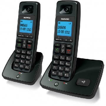 Wireless Phone Daewoo DTD4100 DECT LCD LED DUO DUO
