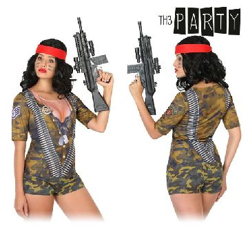 Adult T-shirt Th3 Party 6535 Female soldier