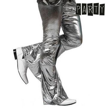 Adult Trousers Th3 Party Disco Shine Silver S1101075