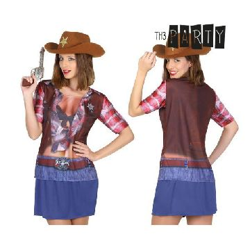 Adult T-shirt Th3 Party 6674 Cowgirl