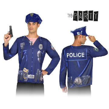 Adult T-shirt Th3 Party 7598 Policeman
