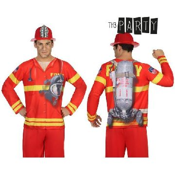 Adult T-shirt Th3 Party 7611 Fireman