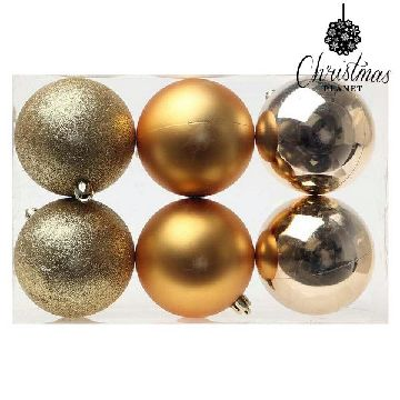 Christmas Baubles Christmas Planet 7933 8 cm (6 uds) Golden