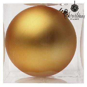 Christmas Bauble Christmas Planet 8859 15 cm Crystal Golden