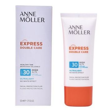 Solbeskyttelsee - lotion Express Double Care Anne Möller Spf 30 (50 ml)