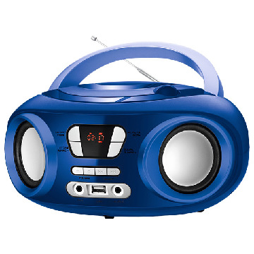 "Radio CD Bluetooth MP3  9"" BRIGMTON W-501 USB Blå"
