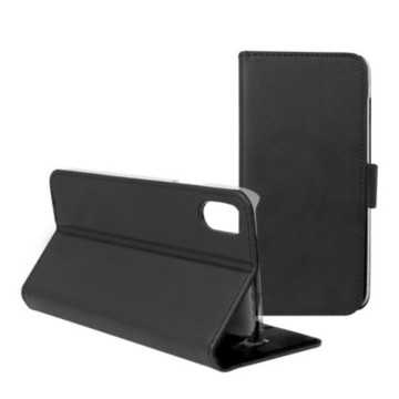 Case til mobilcover Iphone X Contact Slim Sort Tekstil Polykarbonat