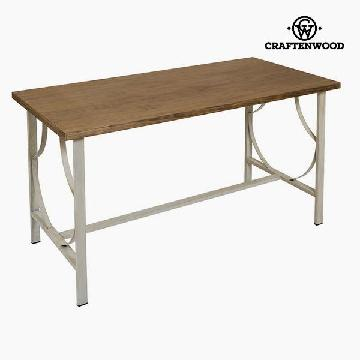 Desk Træ / jern Beige - Serious Line Samling by Craftenwood