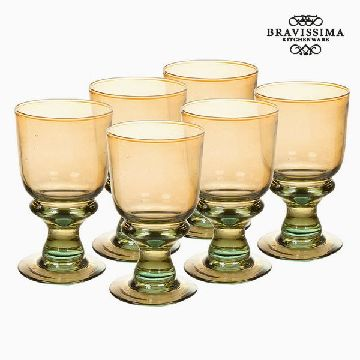 Recycled Wine Glasses (6 pcs) (25 cl) - Queen Kitchen Collection by Bravissima Kitchen