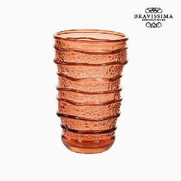 Recycled Glass Vase Coral (8 x 8 x 13 cm) by Bravissima Kitchen