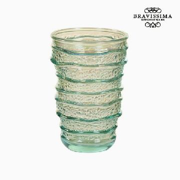 Recycled Glass Vase (8 x 8 x 13 cm) by Bravissima Kitchen