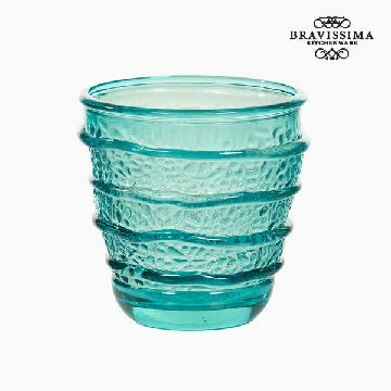 Recycled Glass Vase Turquoise (9 x 9 x 9 cm) by Bravissima Kitchen