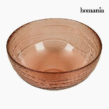 Recycled Glass Bowl Coral (Ø 18 cm) - Pure Crystal Deco Collection by Homania