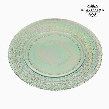 Recycled Glass Plate (32 x 32 x 2  cm) by Bravissima Kitchen