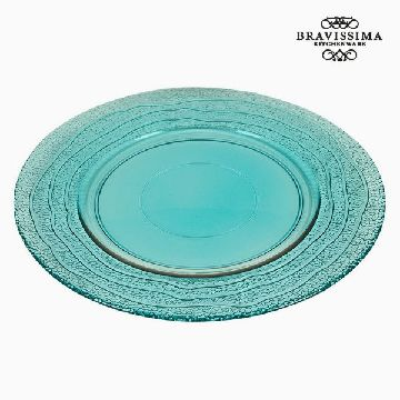 Recycled Glass Plate Turquoise (28 x 28 x 2  cm) by Bravissima Kitchen
