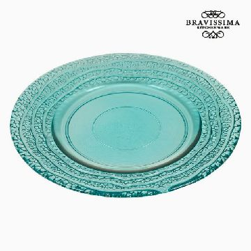 Recycled Glass Plate Turquoise (20 x 20 x 2  cm) by Bravissima Kitchen