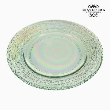 Recycled Glass Plate (20 x 20 x 2  cm) by Bravissima Kitchen