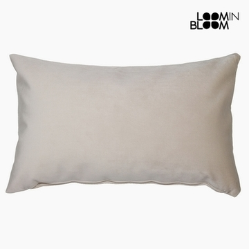 Pude Polyester Beige (30 x 50 x 10 cm) by Loom In Bloom