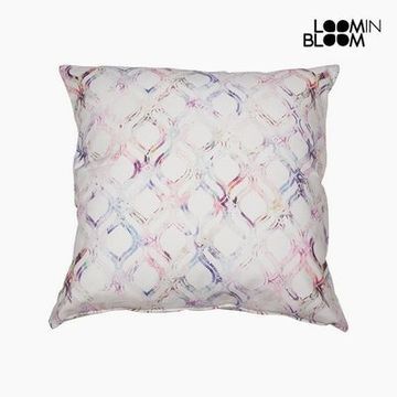 Pude Bomuld Pink (45 x 45 x 10 cm) by Loom In Bloom