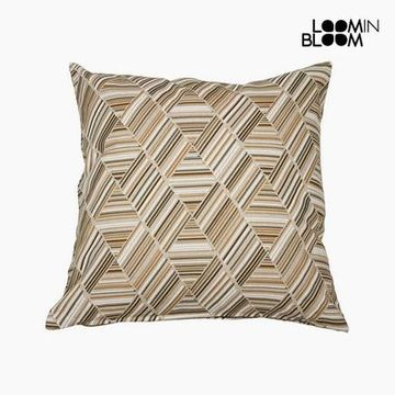 Pude Bomuld og polyester Beige (60 x 60 x 10 cm) by Loom In Bloom