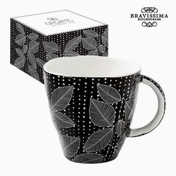 Kom med boks Porcelæn Sort by Bravissima Kitchen