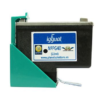 Recycled Ink Cartridge iggual CCICRC0108 PSIPG40 Black