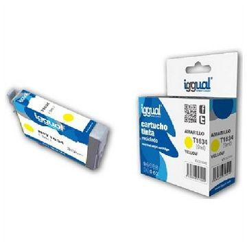 Recycled Ink Cartridge iggual Epson E-1634 Yellow