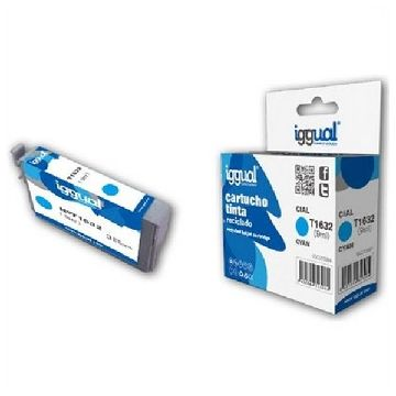 Recycled Ink Cartridge iggual Epson E-1632 Cyan