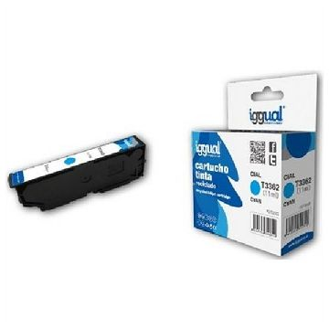 Recycled Ink Cartridge iggual CCICRC0307 IGG313718 Cyan