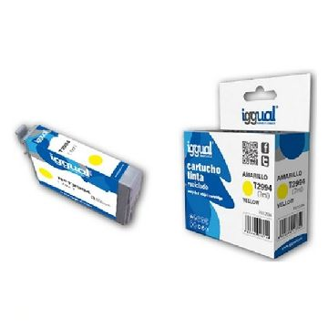 Recycled Ink Cartridge iggual CCICRC0304 IGG313749 Yellow