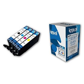 Recycled Ink Cartridge (pack of 4) iggual CCICRC0333 IGG313886 Box-Economy Cyan Magenta Black Yellow