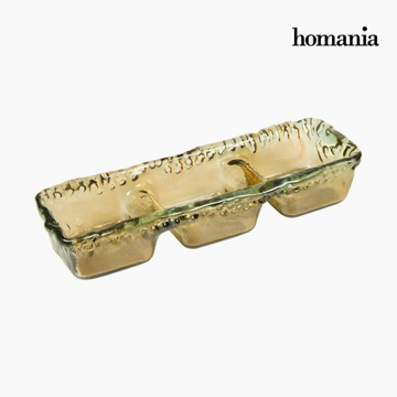 Bordekoration af genbrugsglas Rav - Crystal Colours Deco Samling by Homania