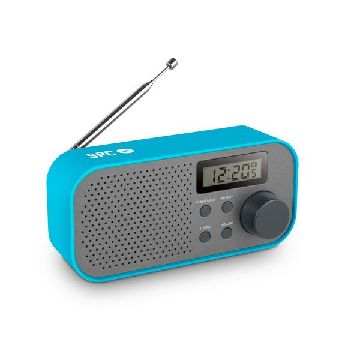 Transistor Radio SPC Frosty 4570A FM/AM LCD Blue Grey